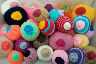 Woolly Knockers for the Breastfeeding team at Portsmouth Hospital. October 2015