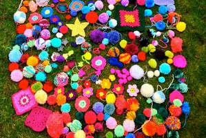 March 2015. Special yarn bomb with Children's Hospice South West