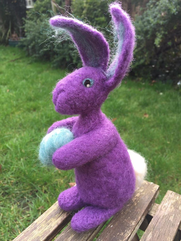 26) Felted Easter Bunny decoration