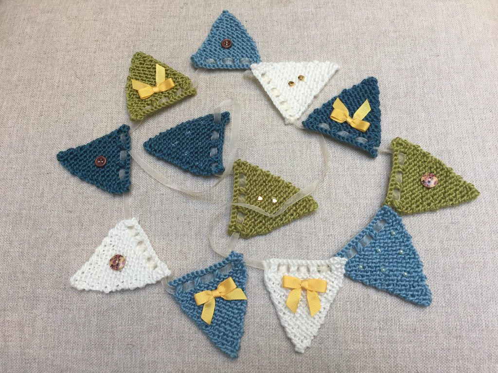 107) Knitted bunting.