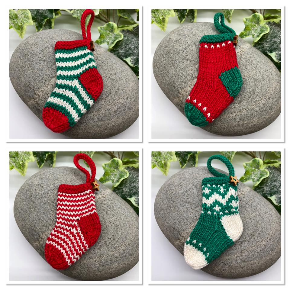 Christmas 2019. Item 116. Set of four beautifully knitted ...
